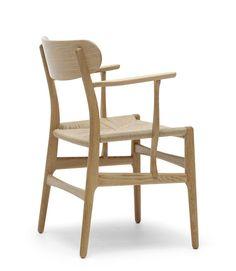 Hans J Wegner's CH22 Lounge Chair Produced by Carl Hansen & Son