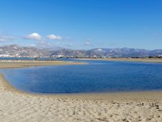 St George beach, Naxos, Greece photo by Ηλιασ Naxos Greece, Greek Islands, Travel Inspiration, Saints, Mountains, Beach, Water, Outdoor, Beautiful
