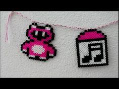 DIY: Bügelperlen Bärchen + Musikbox in Pink als Wanddeko Steckperlen Ham...