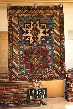 Antique Armenian Kazak | From a unique collection of antique and modern caucasian rugs at https://www.1stdibs.com/furniture/rugs-carpets/caucasian-rugs/