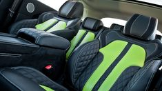 If you're looking for attention, then nothing screams look here more than a lime green paint job seen on this Kahn Design Range Rover Evoque New Range Rover Evoque, The New Range Rover, Car Seat Upholstery, Automotive Upholstery, Kahn Design, Leather Kits, Car Tuning, Kit Cars, Future Car