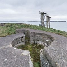 6-inch Coastal Gun Emplacements (active from 1902-1956) adjacent to West Blockhouse Point Beacons which guide shipping into Milford Haven Pembrokeshire.#ukcoastwalk Photo: Quintin Lake www.theperimeter.uk