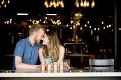 Brewery engagement shoot in Uptown Minneapolis