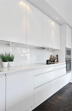 contemporary white kitchen cabinets - Google Search