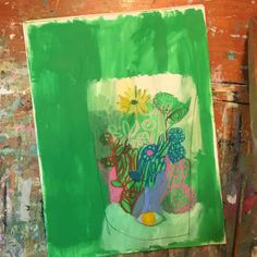 The Original Terrarium painter, abstract American artist and painter. Lily Painting, Painting Still Life, Artist Painting, Abstract Flowers, Abstract Canvas, Beautiful Paintings, Art Techniques, Painting Inspiration, Art Lessons