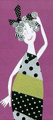 Dona da bola (mariacininha) Tags: art collage paper arte papel colagem marias mariacininha cininha