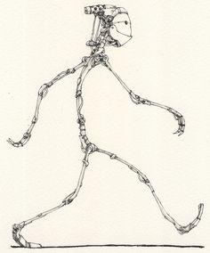 Skinny Robot by Mattias Adolfsson. (par Mattias Adolfsson)  More robots here.
