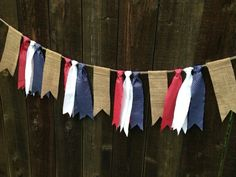 Rustic Patriotic of July Stars and Stripes Burlap Red White Blue Silver Fabric Garland Shabby Chic Independence Day America on Etsy 1600 Fourth Of July Decor, 4th Of July Celebration, 4th Of July Decorations, 4th Of July Party, July 4th, Memorial Day Decorations, Easy Decorations, Decor Ideas, Patriotic Crafts