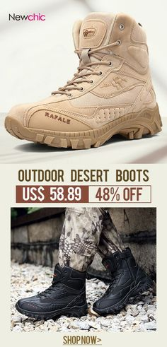 47f6a6f5bc0 Men Outdoor Slip Resistant Hiking Ankle Desert Boots is fashionable