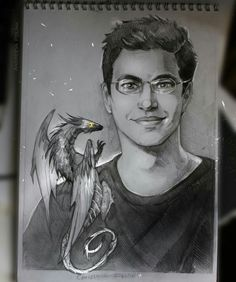 Incredible Inheritance artwork by Polina Andreeva (@PolinaaLorien) - Christopher Paolini with a dragon
