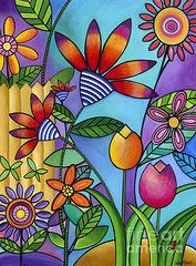 All Artwork - Wild Flowers by Carla Bank
