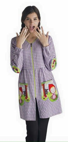 Tunic Blouse, Tunic Tops, Lab Coats, Shirt Refashion, Teacher Outfits, Couture, The Dreamers, Sewing, Womens Fashion