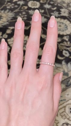 Simple Acrylic Nails, Best Acrylic Nails, Rose Gold Band Ring, Gold Ring, Witch Nails, Pink Nail Colors, Short Gel Nails, Nail Oil, Sparkle Nails