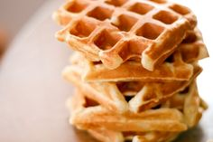 these buttermilk waffles look fluffy and delicious Easy Buttermilk Waffle Recipe, Buttermilk Waffles, What's For Breakfast, Breakfast Recipes, Dessert Recipes, Desserts, Gluten Free Waffles, Waffle Recipes, Sweet Recipes