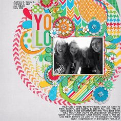 YOLO from the gallery at Real Life Scrapped - this layout was created by Olivia aka Liv and it's so stunning I am just in awe!  Firstly, this is one of my favorite kits as of late and this layout just blew my mind! wow! Layout created using YOLO by @Erin Duncan Gypsy