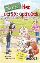 Het eerste optreden  De Bleshof is een gezellige kinderboekenserie over een pension waar bejaarde paarden worden opgevangen.  http://www.bruna.nl/boeken/het-eerste-optreden-9789020694963