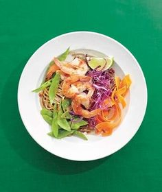 Chili-Garlic Shrimp Noodle Bowl from realsimple.com #myplate #protein #vegetables
