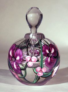 Roger Gandelman art glass perfume bottle.