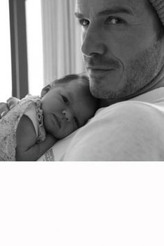 Harper Beckham Looks Adorable In Daddy David's Arms, 2015