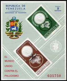 Francobolli . Lotta contro la malaria - Malaria on Stamps Venezuela 1962