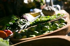 Brussel sprouts at the farm gate