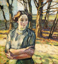 """'Winter sun' - Leo Putz (1869–1940) """