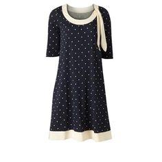 orla kiely polka dot dress- <3