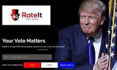 Your Vote Matters, RateIt is an app that echoes public opinion so your voice can be heard