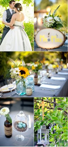 Sunflower Reception Ideas [ Thesterlinghut.com ] #wedding #personalized #sterling