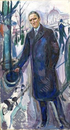 Edvard Munch - Porrtrait of Hieronymus Heyerdahl (Heyerdahl was a Norwegian administrator and politician for the Conservative Party, born in Fredrikstad. He served as mayor of Oslo from 1912 to 1914.)