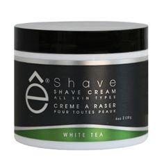 Crème à raser Thé blanc E-Shave, Cosmétiques Homme, produit de rasage et conseils beauté homme