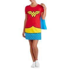 Women's Character Sleep Shirt with Cape