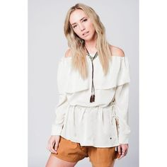 Soft beige blouse with drawstring  ||  Soft off shoulder blouse with long sleeves. The top has a string as a belt around the waist and a button on the cuffs. Color: Beige Material: 100% Polyester Ite https://www.mymallmetro.com/products/soft-beige-blouse-with-drawstring?utm_campaign=crowdfire&utm_content=crowdfire&utm_medium=social&utm_source=pinterest