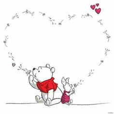 Pooh and piglet Pooh and piglet – Disney Crafts Ideas Winnie The Pooh Tattoos, Winnie The Pooh Quotes, Winnie The Pooh Friends, Winnie The Pooh Drawing, Winnie The Pooh Pictures, Disney Winnie The Pooh, Cute Disney, Disney Art, Disney Dream