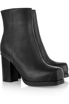 ACNE Square-toed leather boots. A staple for any girl! $670.