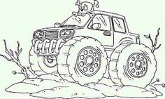 Desert Monster Truck Coloring Pages