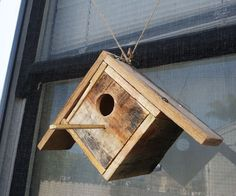 This is a See Thru Birdhouse I made with up-cycled pallets and an old CD case. After completion, you'll have a sweet birdhouse that will let you see the activity inside!I built this birdhouse without glue, because I read it can take up to a year for birds to move in due to the smell, and I just didn't want to wait that long!Here's what you'll need:-pallet planks-saw-drill-hole saw kit-hammer-nails-ruler-pen