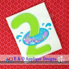 Inner Tube Birthday 2 Applique Design