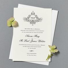 'Black Tie' Wedding Invitation And Stationery