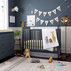 Bold Type Flag Letters  | The Land of Nod Cute idea for over the crib. Wouldn't be heavy if fell off.