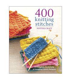 Potter Craft Books - 400 Knitting Stitches