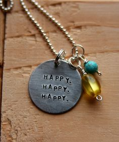 HAPPY HAPPY HAPPY necklace by threechickscouture on Etsy, $25.00 duck dynasty inspired necklace