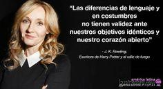 Frase de J.K. Rowling escritora de Harry Potter.