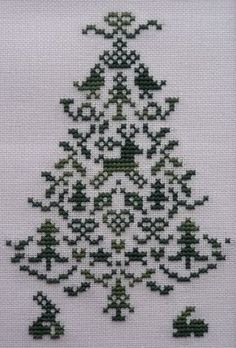 ♥embroidery designs →cross stitch pattern♥ by SoEasyPattern Cross Stitch Christmas Ornaments, Xmas Cross Stitch, Cross Stitch Borders, Modern Cross Stitch, Christmas Cross, Counted Cross Stitch Patterns, Cross Stitch Charts, Cross Stitching, Blackwork Embroidery