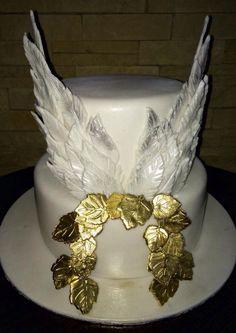 Angel wing birthday cake