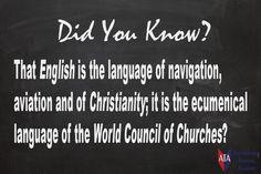TESOL ESL [ English Facts ] English is...