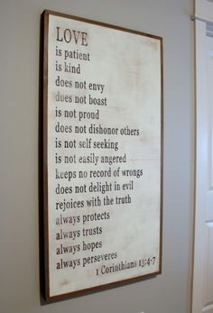 wood sign love is patient verse for the master bedroom Love Is Patient, Love Signs, First Home, My New Room, Feng Shui, Room Inspiration, Just In Case, Bible Verses, Bedroom Decor