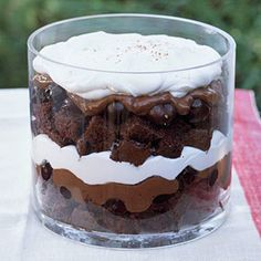 Black Forest Trifle - low enough in calories, fat, and carbs to fit into a diabetes meal plan!