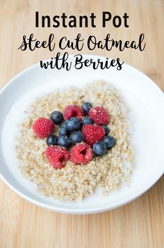 Instant Pot Steel Cut Oatmeal + What Cooks Well in the Electric Pressure Cooker on 100 Days of Real Food