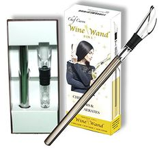 Chef Caron Wine Wand  The Original Pourer Aerator  Iceless Chiller  3 in 1 Accessory  Stainless Steel Rod  Dripfree Acrylic Pour Spout * Read more reviews of the product by visiting the link on the image.